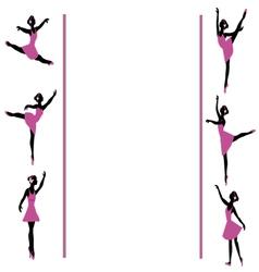 ballerinas dancing frame vector image