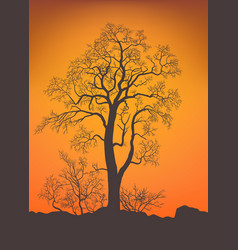 Bare tree and bushe vector