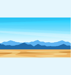 beautiful southern scenic landscape with mountains vector image