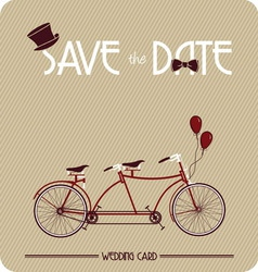 biciklo za dvoje3 vector image