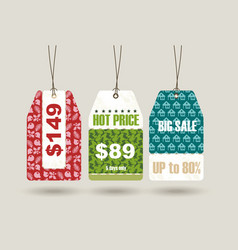 big sale christmas sticker tags vector image