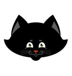 Black cat isolated sweetheart kitten home pet vector