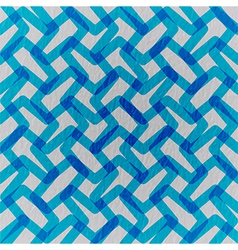 Blue abstraction composed of blue bricks vector