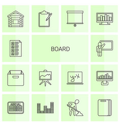 Board icons vector