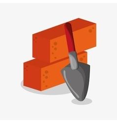 Bricks of under construction design vector