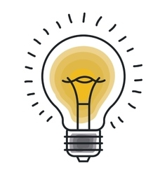 bulb light icon design vector image