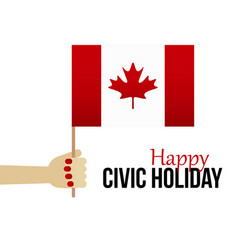 Canada civic day holiday card vector