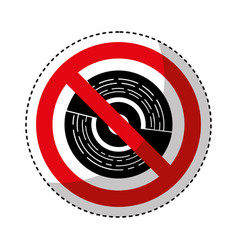cd with denied sign vector image