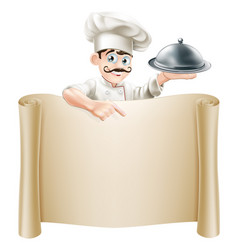 chef menu scroll vector image