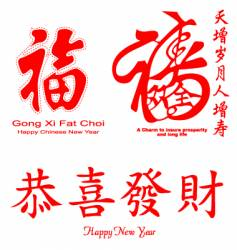 Chinese calligraphy vector