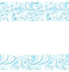 Christmas and ny congratulation blank postcard vector