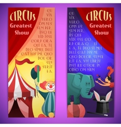 Circus banner vertical vector image vector image