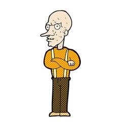 comic cartoon mean old man vector image