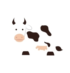 cow animal milk icon graphic vector image