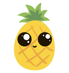 cute pineapple on white background vector image