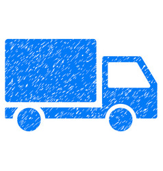 Delivery lorry grunge icon vector