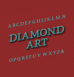 diamond art typeface vintage font isolated vector image