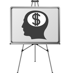 dollar brain of a man vector image