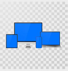 gadget set mock up realistic devices laptop vector image