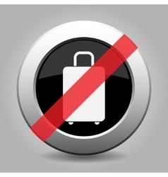 Gray chrome button - no suitcase vector