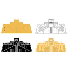 Great ziggurat at ur in front view vector