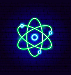 green science neon sign vector image
