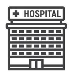 hospital building line icon medicine vector image