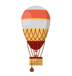 Hot air balloon retro icon of cloudhopper vector