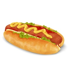 Hot dog isolated vector image