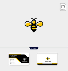 initial e and bee logo template free business vector image