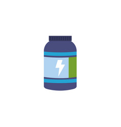 Isolated gym supplement flat design vector
