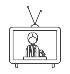 Journalist of broadcasting concept vector
