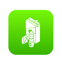 juice pack icon green vector image