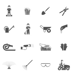 Lawn Man Icon Set vector image