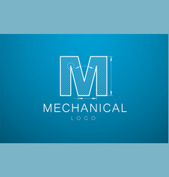 logo letter m in the style of a technical vector image