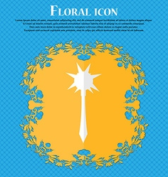 Mace floral flat design on a blue abstract vector