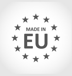 made in europe icon vector image