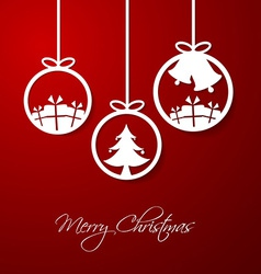 Merry Christmas hanging decorative ball vector image