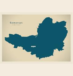 Modern map - somerset county england uk vector