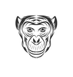 Monkey face design vector