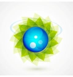 nature sphere design vector image