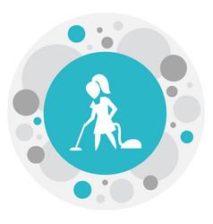 Of hygiene symbol on vacuuming vector