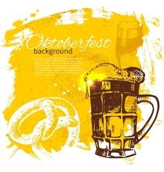 Oktoberfest vintage background vector