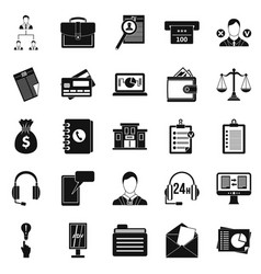 online banking icons set simple style vector image