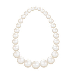 pearls mockup realistic style vector image