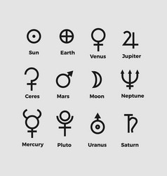 planet symbols vector image