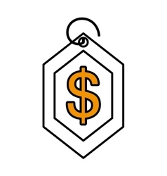 Price commerce tag isolated icon vector