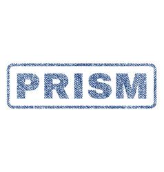 Prism textile stamp vector
