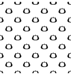Purse pattern simple style vector image