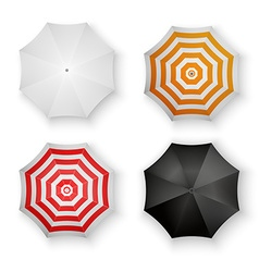 set colorful umbrellas isolated vector image